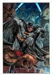Batman on Gargoyle_ painting