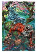 Tiger_ painting by AllJeff