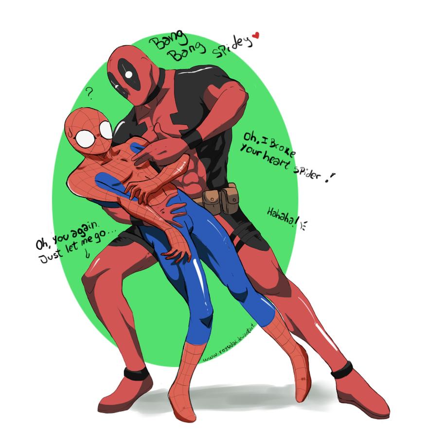 Commission Spidey X Deadpool by royudaiX Men Deadpool Drawings
