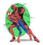 Commission_Spidey X Deadpool