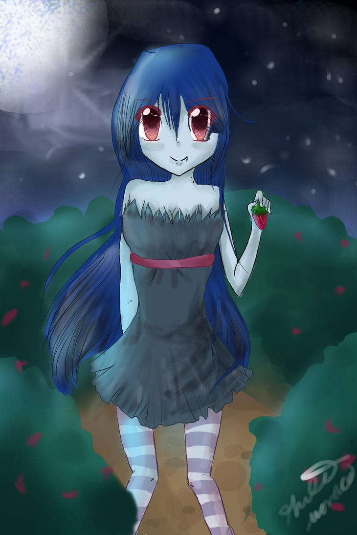 In the strawberry fields by pandapencil526