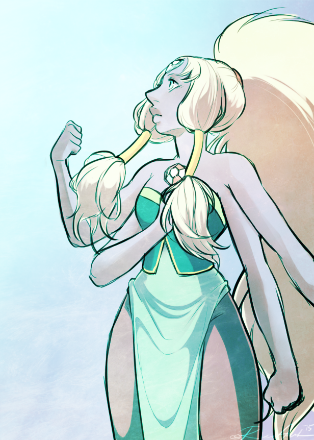 I had a old ask hidden in my inbox(in tumblr) asking me to draw someone from steven universe. And no that i actually caught up with the show, i had to draw one of my absolute favorites, Opal. Just ...