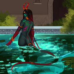 Inari's Bath by Ashaton