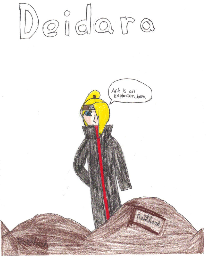 "Deidara""Art is an Explosion"" by MaiShark"