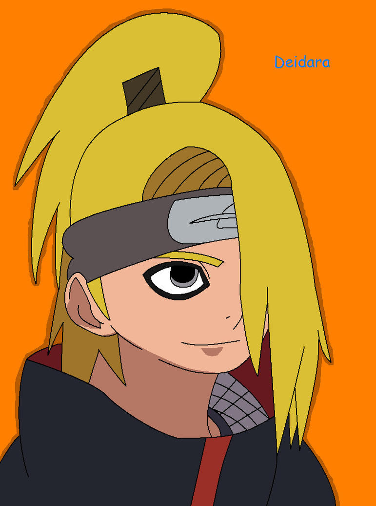Deidara Colored by MaiShark