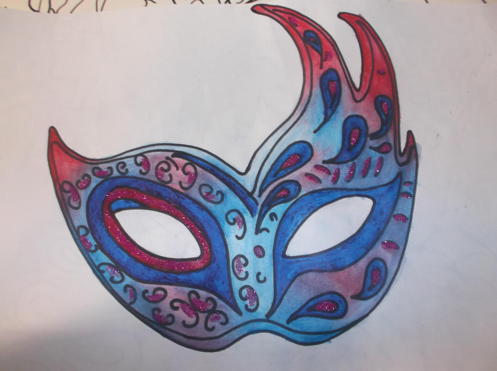 Masquerade Mask Drawing By I LOVE CHOCOLATE96