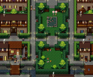 Map test village Pixel Myth : Germania by ShuaTinwe