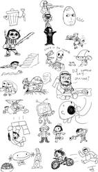 Grouse stream doodles by PsychoWardJester