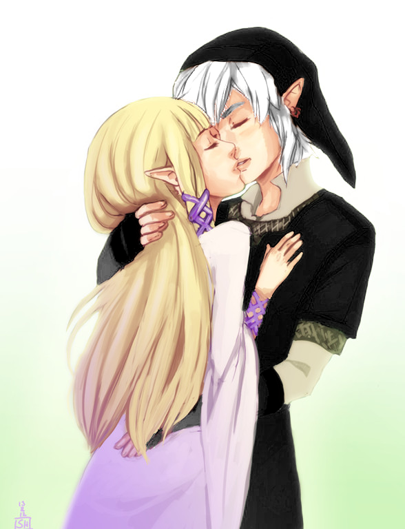 Dark Link And Dark Zelda Kiss