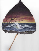 painted leaf...2 by Arteestique