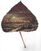 Leaf Painting by Arteestique