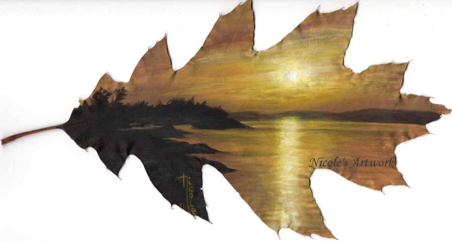 Killarney Sunrise...on a leaf by Arteestique