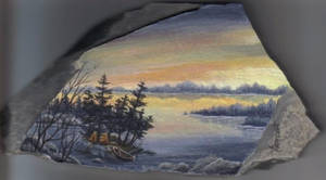 Painting on a rock by Arteestique