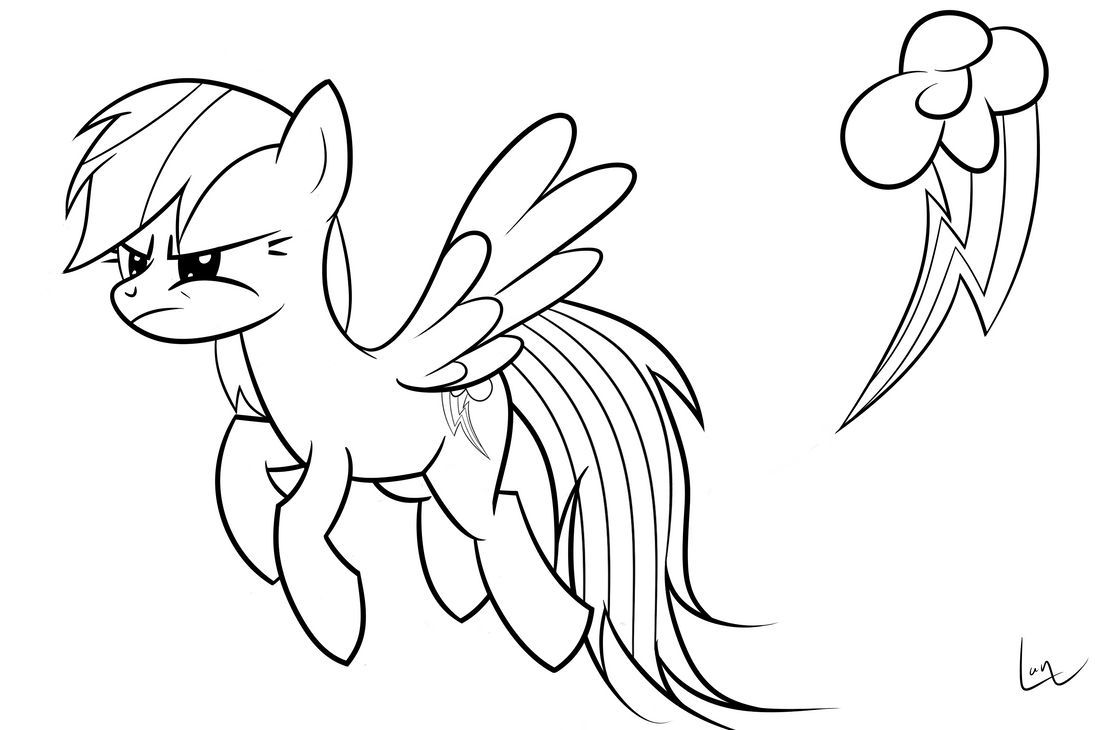 Line Drawing Rainbow : Rainbow dash lineart by lankly on deviantart
