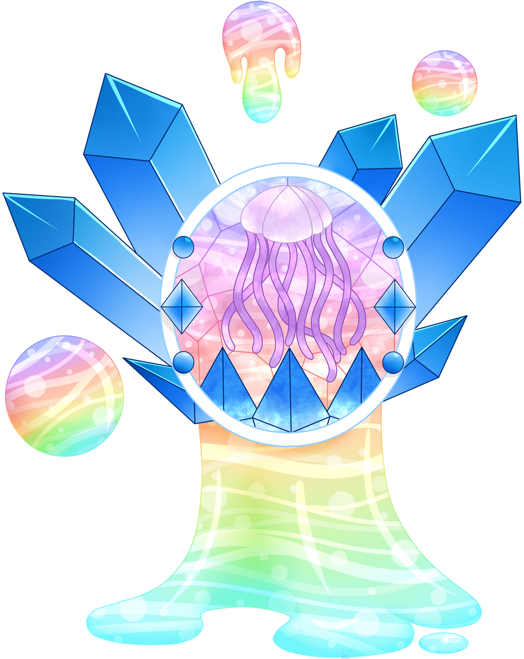C Crystal Shimmer Stained Glass by Beadedwolf22