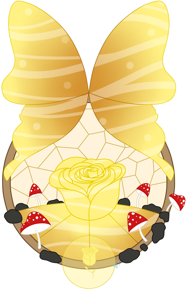 C Amber Stained Glass by Beadedwolf22