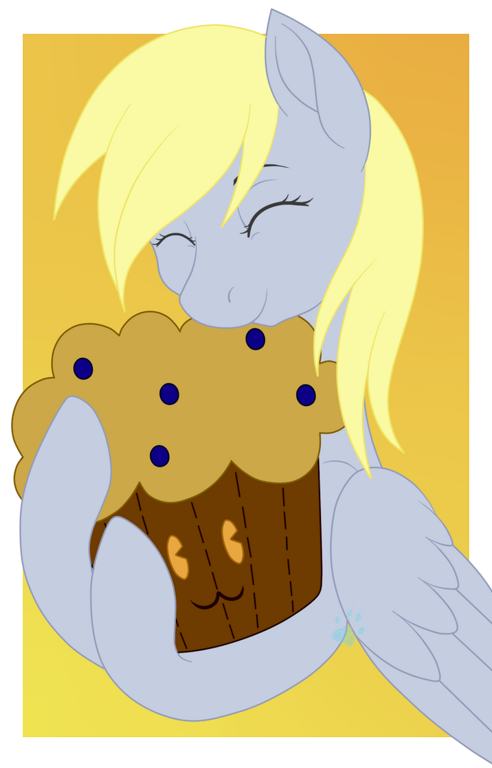 Derpy's Muffin Plushie by Beadedwolf22