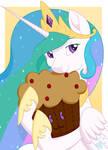 Celestia's Muffin Plushie by Beadedwolf22