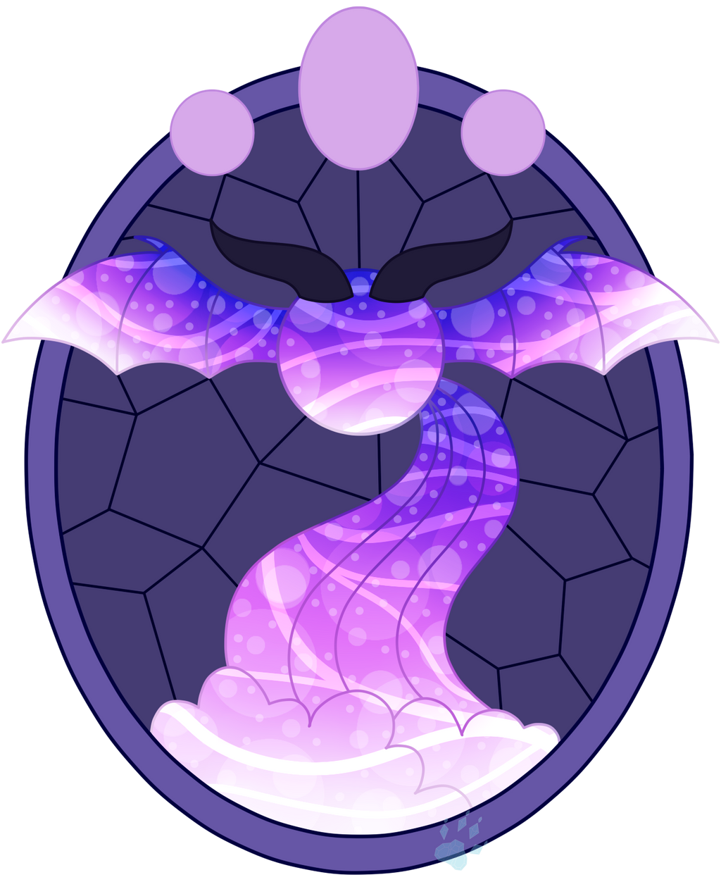 C Phoebe The Aqua Equos Stained Glass by Beadedwolf22