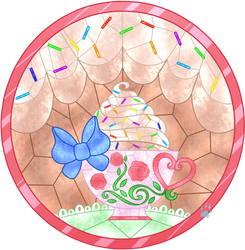 CG Tia Cakes Stained Glass by Beadedwolf22