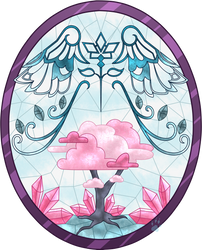 C Dove Stained Glass by Beadedwolf22