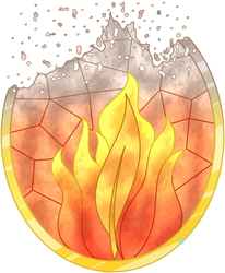 C Ashfire Stained Glass by Beadedwolf22