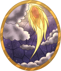 C Comet Stained Glass by Beadedwolf22