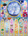Friendship Is Magic Stained Glass by Beadedwolf22