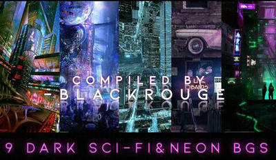 Sci-fi  Neon Background Pack