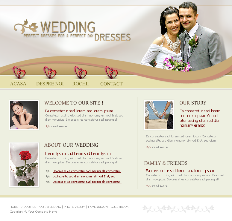 Website Layout - Wedding Dress by TeDiTzU on DeviantArt