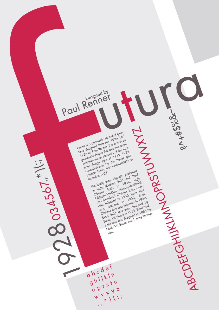 Alisabeth - Typography: Futura Poster