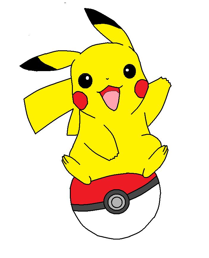 Pikachu On A Pokeball By Weasel Fox