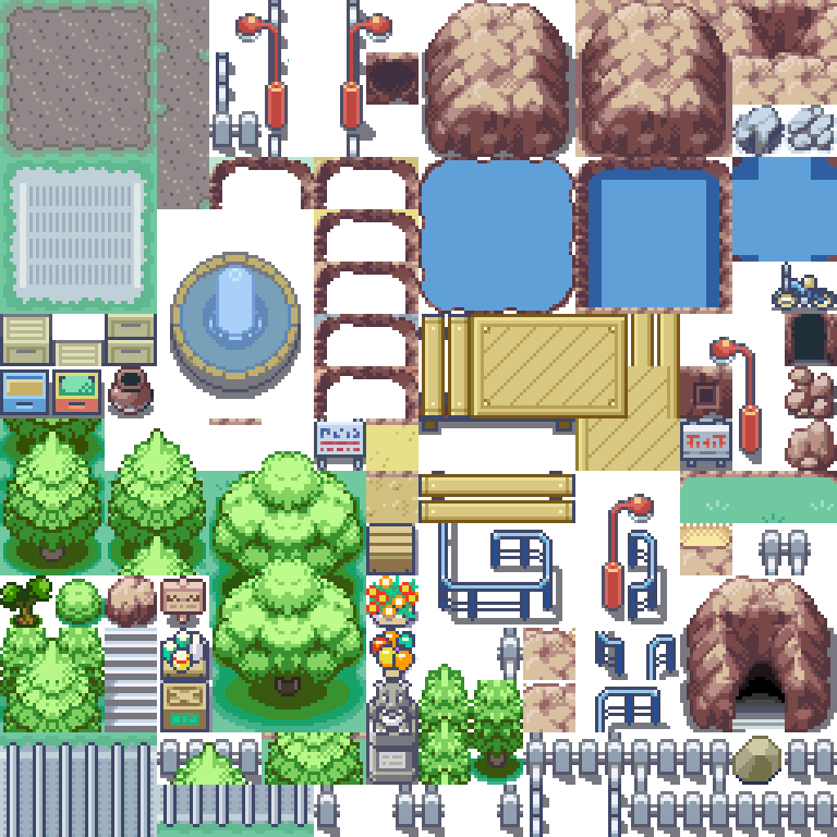 Pokemon, Route, Tileset