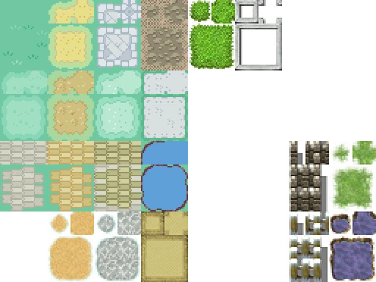 Pokemon, Autotiles, Ground, Floor, A