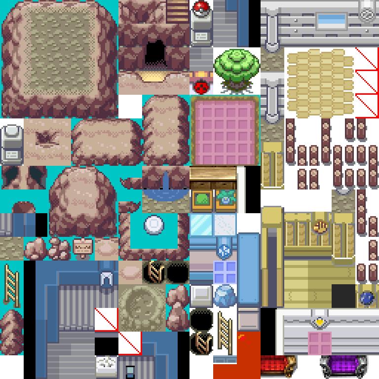 Pokemon, Gym B, Tileset