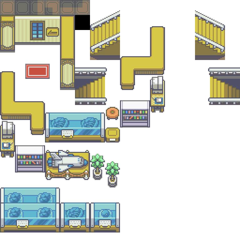 Pokemon, Museum, Tileset