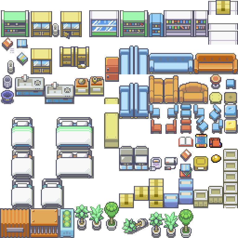 Pokemon, Safari, Zone, Inner Room, Hospital, Bed