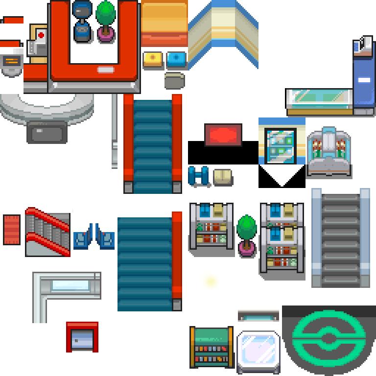 HGSS Interior 2 Pokemon Center And Mart By Skatefilter5