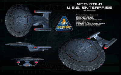 Galaxy class ortho - USS Enterprise D by unusualsuspex