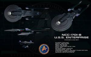 Excelsior Refit ortho - USS Enterprise B by unusualsuspex