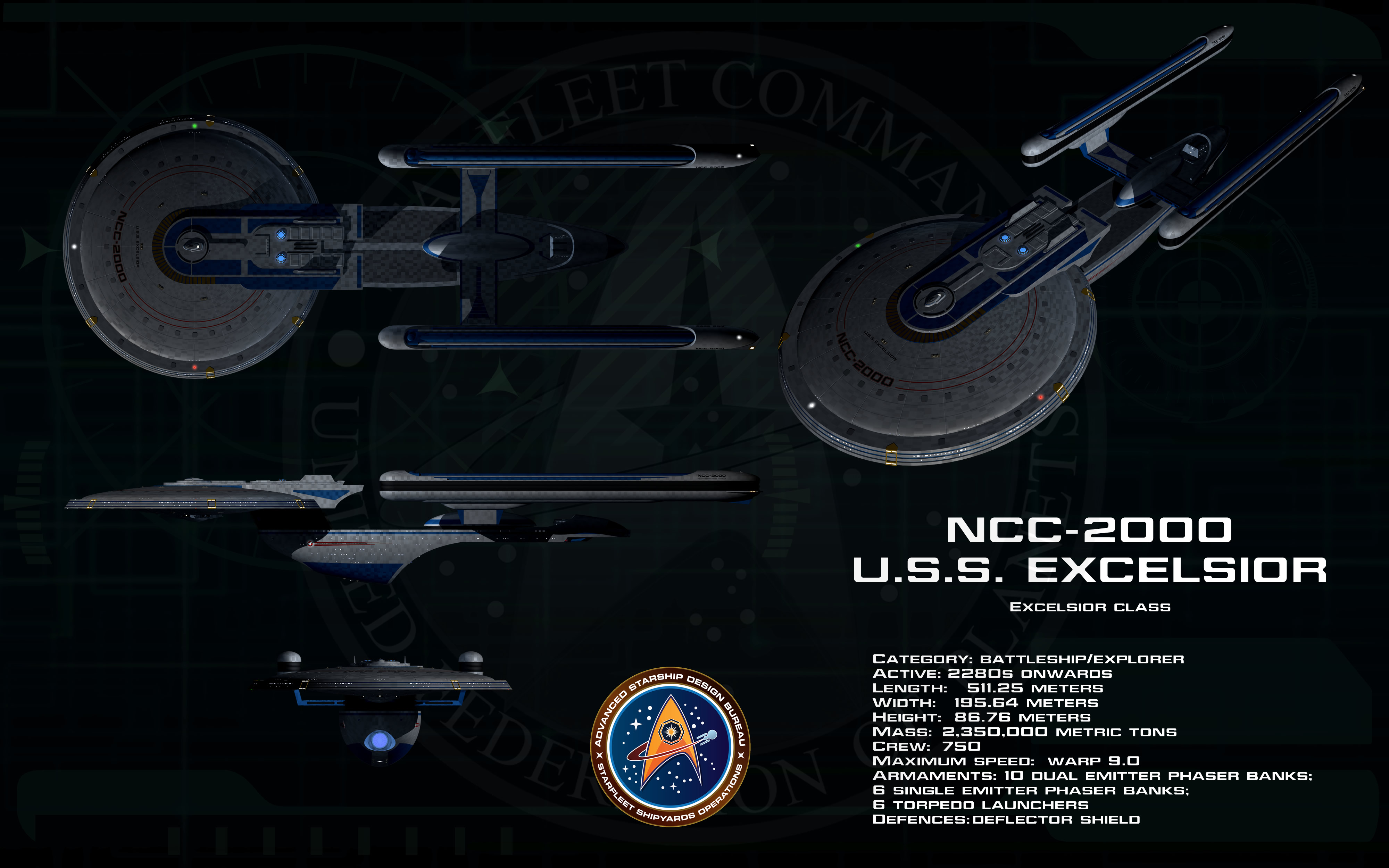 Photo Collection Star Trek Uss Excelsior