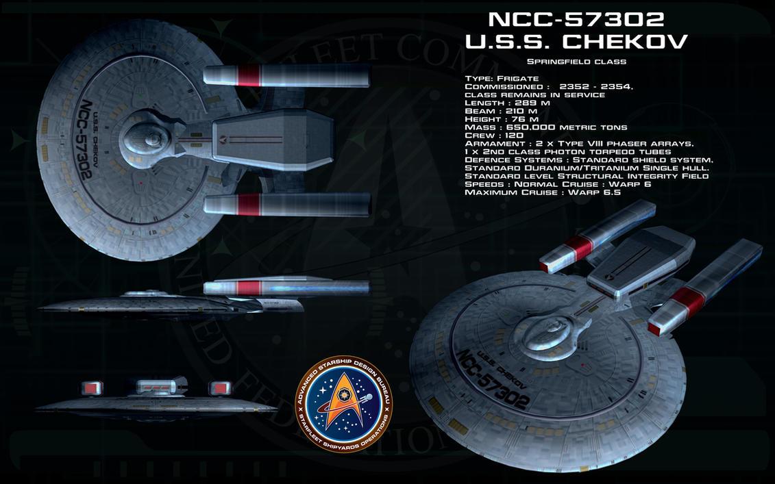 Springfield class ortho - USS Chekov by unusualsuspex
