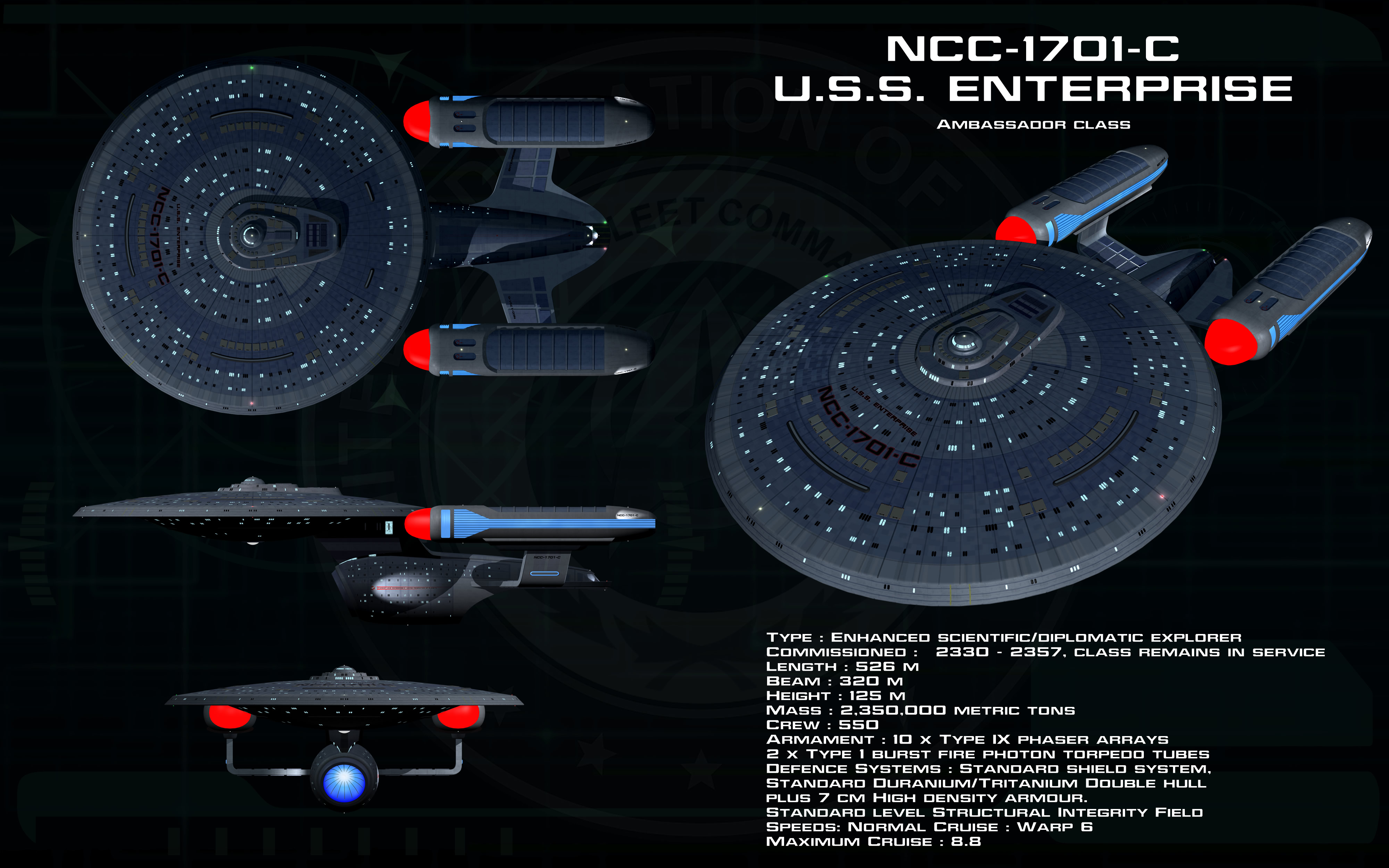 Ambassador class ortho - USS Enterprise - C by unusualsuspex
