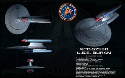 Challenger class ortho - USS Buran by unusualsuspex