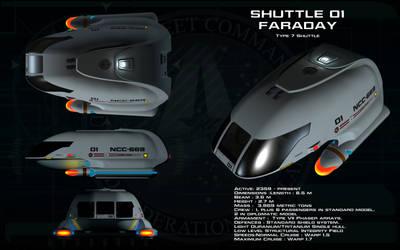 Type 7 Shuttlecraft ortho - Faraday by unusualsuspex