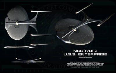 Unknown class ortho - USS Enterprise 1701-J by unusualsuspex
