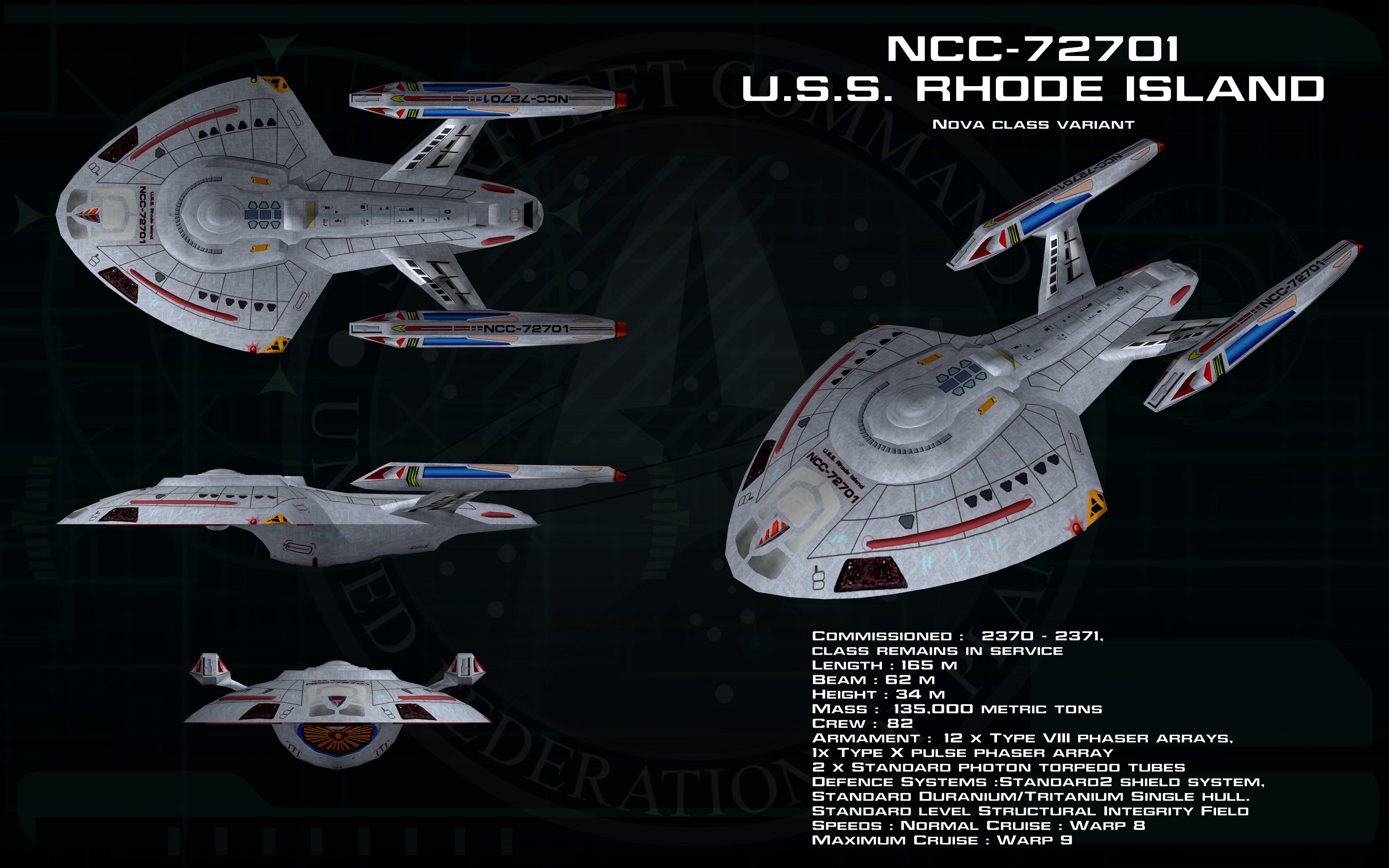 Star Trek Rhode Island Class Specs