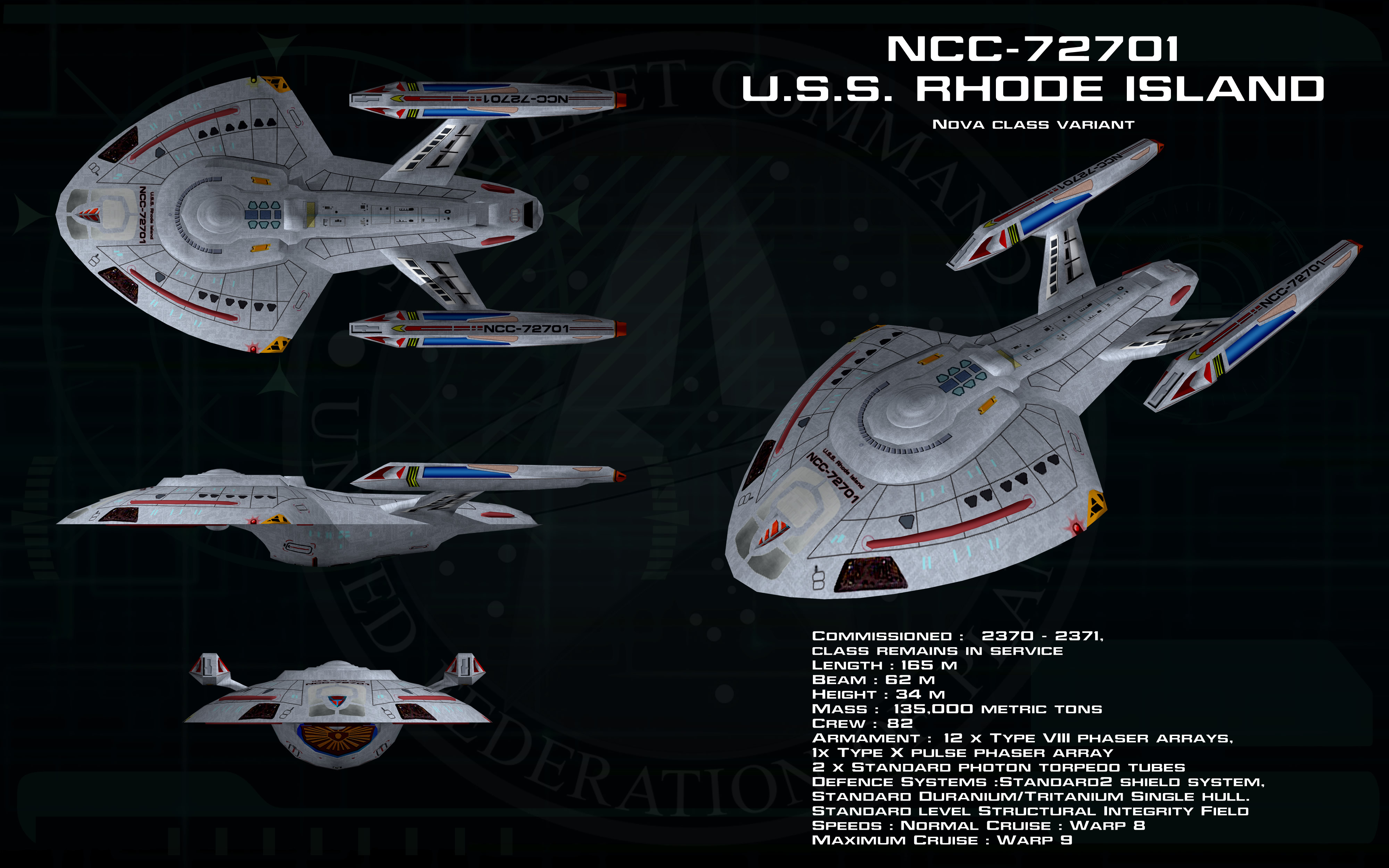Nova Class Starship Rhode Island