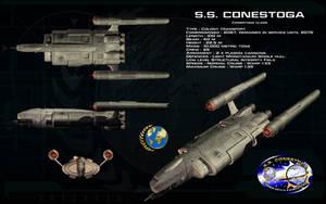 Conestoga class ortho - SS Conestoga by unusualsuspex