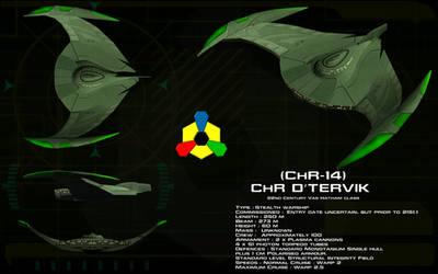 Romulan Bird of Prey (22nd Century) ortho by unusualsuspex